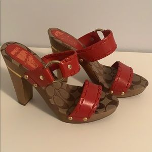 NWOT Coach Style A0274 Cheree Calf Heels. In box.